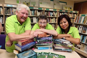 Volunteering in the Village library