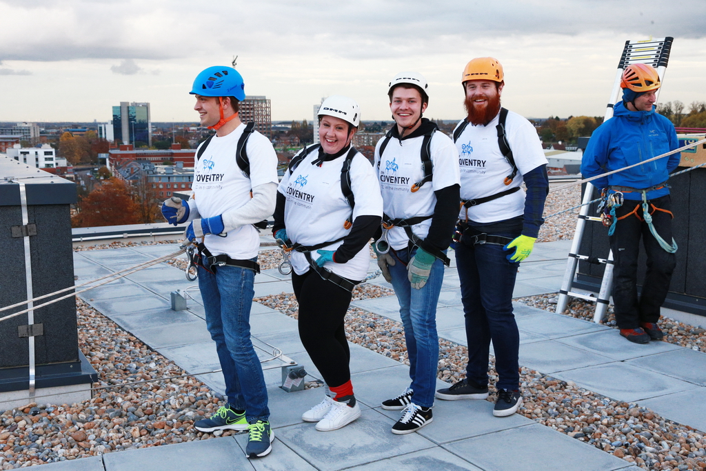 Coventry Building Society Abseiling for ExtraCare