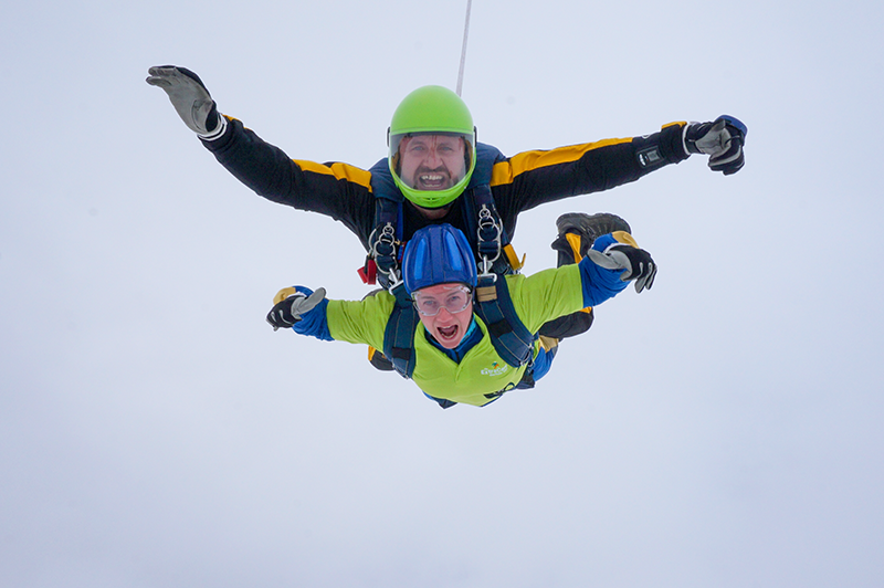 Skydiving corporate partnerships with ExtraCare